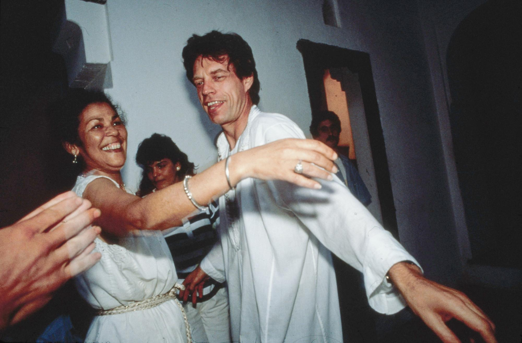 Kadija and Mick Jagger dancing